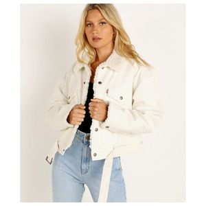 Levi's cozy cocoon Sherpa lined trucker jacket NWT